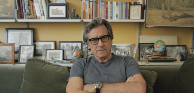 Still of Griffin Dunne from the Joan Didion Documentary campaign video. Griffin was natural, compelling, and never sounded like he was reading from a script.